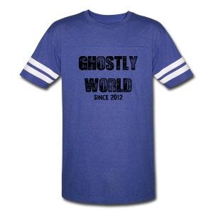 Ghostly World Logo Jersey - Vintage Sport T-Shirt
