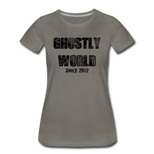 Ghostly World Logo Women's T-Shirt - Women's Premium T-Shirt