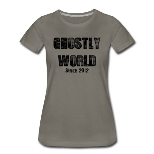 Ghostly World Logo Women's T-Shirt - Women's Premium T-Shirt