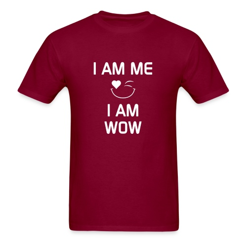 I AM ME-I AM WOW   %100 Cotton - Men's T-Shirt