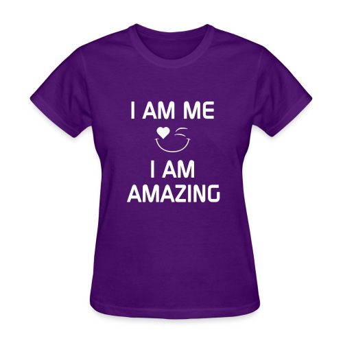 I AM ME-I AM AMAZING   %100 Cotton - Women's T-Shirt