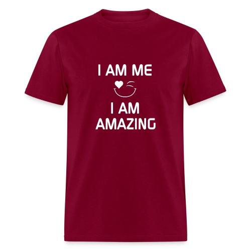 I AM ME-I AM AMAZING   %100 Cotton - Men's T-Shirt