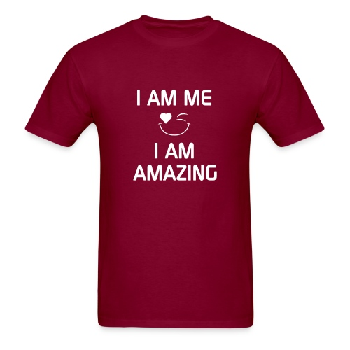 I AM ME-I AM AMAZING   %100 Cotton - Men's T-Shirt