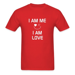 I AM ME - I AM LOVE  %100 Cotton - Men's T-Shirt