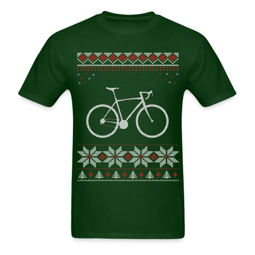 Bicycle Holiday Christmas T-Shirt  - Men's T-Shirt