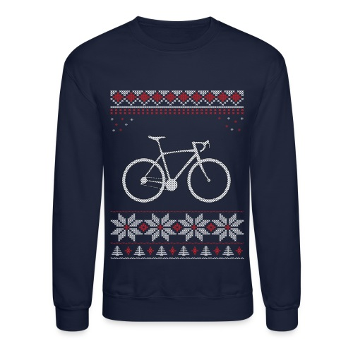 Bicycle Holiday Christmas T-Shirt Sweatshirt - Crewneck Sweatshirt