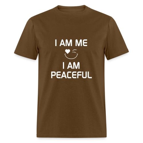 I AM PEACEFUL   %100Cotton - Men's T-Shirt