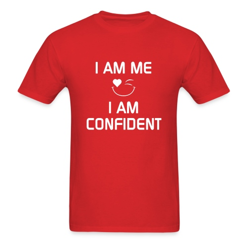 I AM CONFIDENT   %100Cotton - Men's T-Shirt