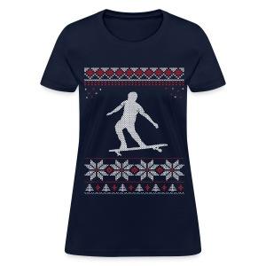 Longboard Holiday/Christmas Shirt (Women's) - Women's T-Shirt