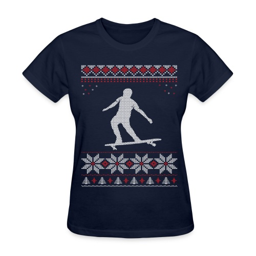 Longboard Holiday/Christmas Shirt (Women's) - Women's T-Shirt