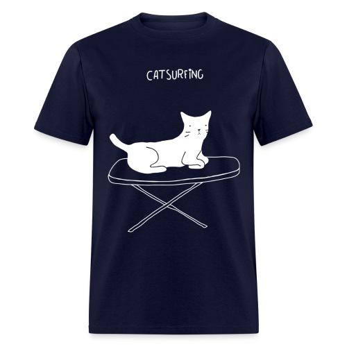 Men Cat Surfing Tee - Men's T-Shirt