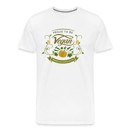 Proud to be Vegan - Men's Premium T-Shirt