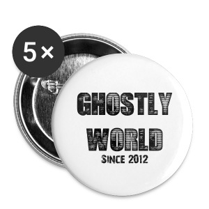 Ghostly World Logo Pins - Small Buttons