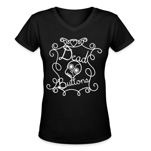Dead Buttons - Women's V-Neck T-Shirt