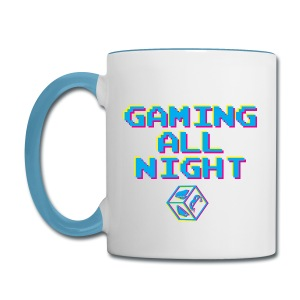 Gaming All Night Mug - Contrast Coffee Mug