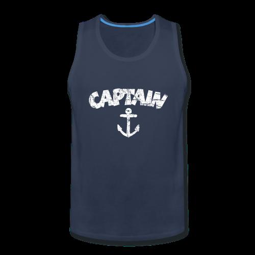 Captain Anchor Tank Top (Vintage/White) - Men's Premium Tank