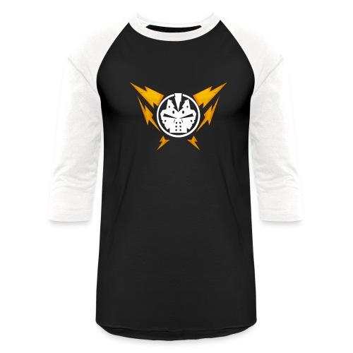Power Supply JASON T-Shirt (power button on back) - Baseball T-Shirt