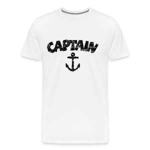 Captain Anchor S-5X T-Shirt (Vintage/Black) - Men's Premium T-Shirt