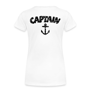 Captain Anchor S-3X T-Shirt (Vintage/Black) - Women's Premium T-Shirt
