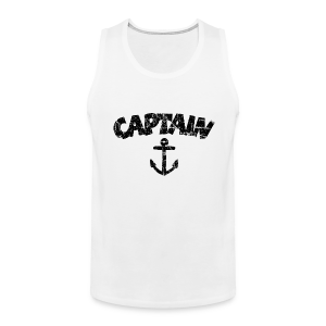 Captain Anchor Tank Top (Vintage/Black) - Men's Premium Tank