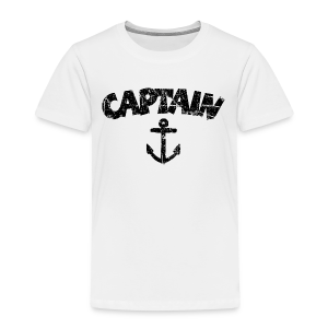 Captain Anchor Toddler T-Shirt (Vintage/Black) - Toddler Premium T-Shirt