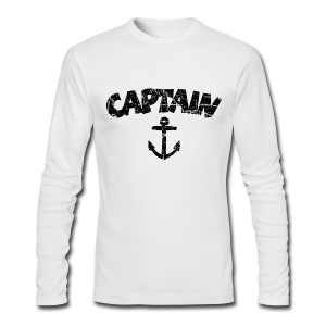 Captain Anchor Longsleeve (Vintage/Black) - Men's Long Sleeve T-Shirt by Next Level