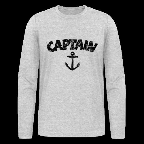 Captain Anchor Longsleeve (Vintage/Black) - Men's Long Sleeve T-Shirt by Next Level