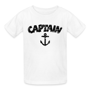 Captain Anchor Kids' T-Shirt (Vintage/Black) - Kids' T-Shirt
