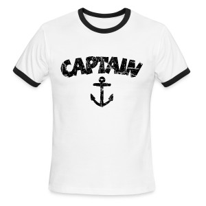 Captain Anchor Ringer Shirt (Vintage/Black) - Men's Ringer T-Shirt
