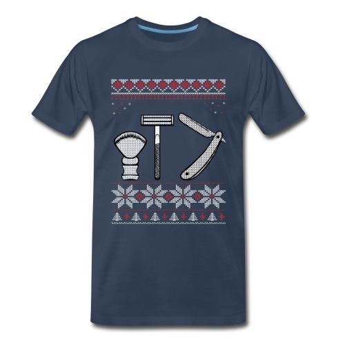 Wet Shaving Holiday Crewneck - Larger Sizes - Men's Premium T-Shirt