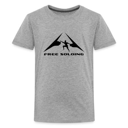Free Soloing Climber  - Kids' Premium T-Shirt