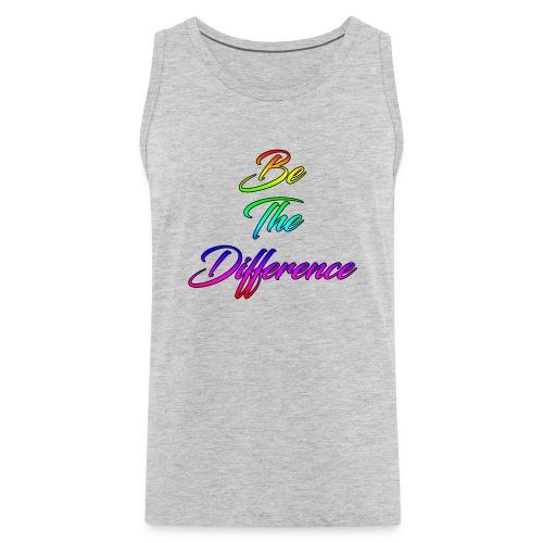 Be The Difference Mens Rainbow Tank - Men's Premium Tank