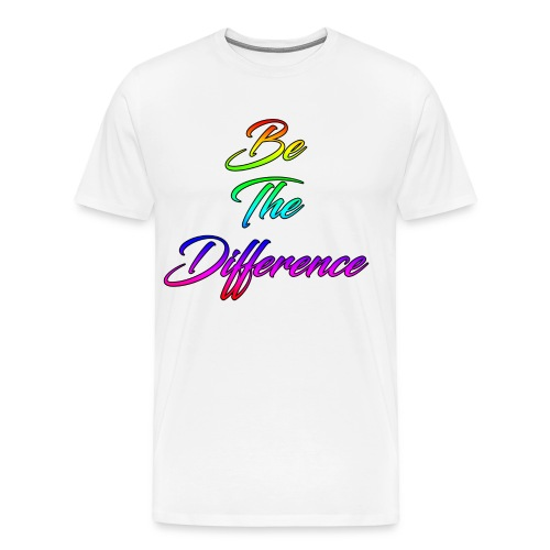 Be The Difference Mens Rainbow Shirt - Men's Premium T-Shirt