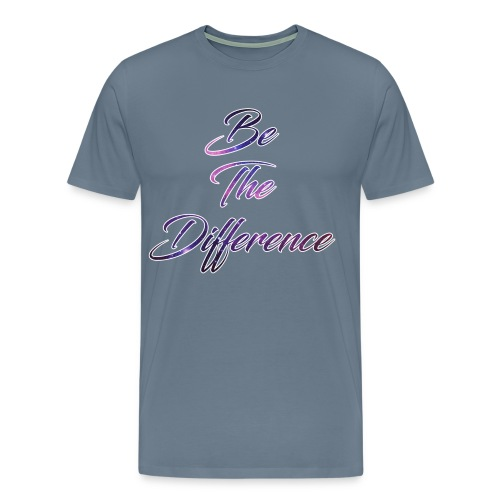 Be The Difference Mens Galaxy Shirt  - Men's Premium T-Shirt