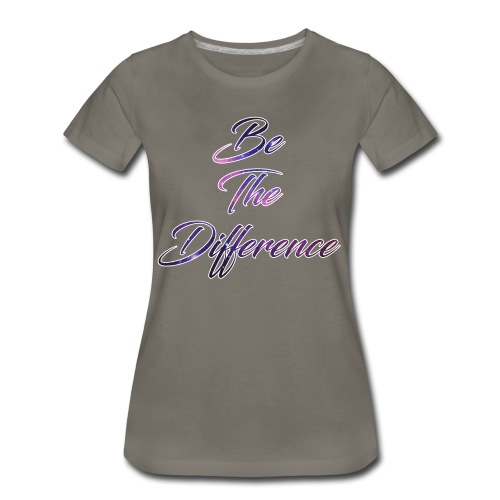 Be The Difference Womens Galaxy Shirt  - Women's Premium T-Shirt