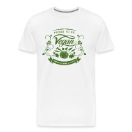 T-Shirts ~ Men's Premium T-Shirt ~ Proud to be Vegan Green