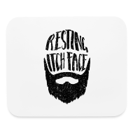 Other ~ Mouse pad Horizontal ~ Resting Itch Face - Funny Beard Pun