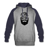 Hoodies ~ Colorblock Hoodie ~ Resting Itch Face - Funny Beard Pun