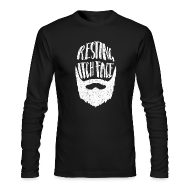 Long Sleeve Shirts ~ Men's Long Sleeve T-Shirt by Next Level ~ Resting Itch Face - Funny Beard Pun