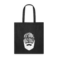 Bags & backpacks ~ Tote Bag ~ Resting Itch Face - Funny Beard Pun