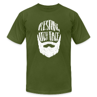 T-Shirts ~ Men's T-Shirt by American Apparel ~ Resting Itch Face - Funny Beard Pun