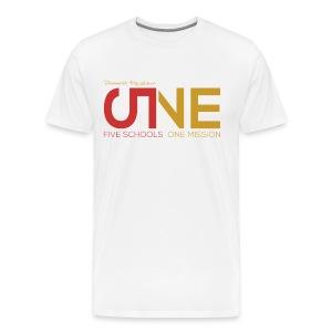 """Men's Plus Size Short Sleeve """"Five Schools-One Mission"""" Shirt - Men's Premium T-Shirt"""