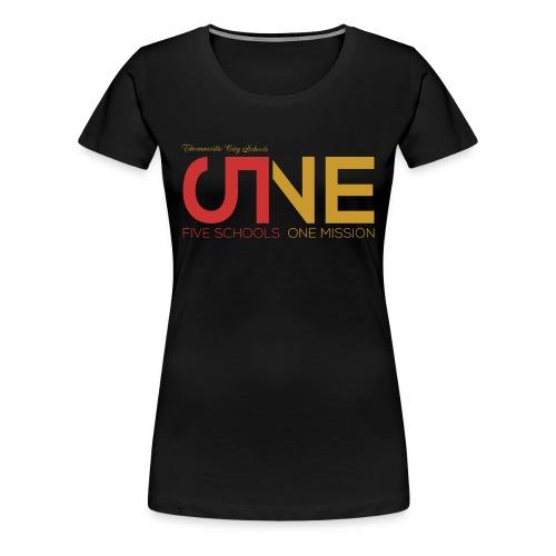"""Women's Plus Size Short Sleeve """"Five Schools-One Mission"""" Shirt - Women's Premium T-Shirt"""
