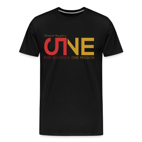 "Men's Plus Size Short Sleeve ""Five Schools-One Mission"" Shirt - Men's Premium T-Shirt"