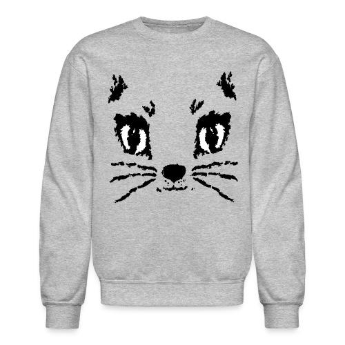 Bella Cat Face (Sweatshirt, select colors) - Crewneck Sweatshirt