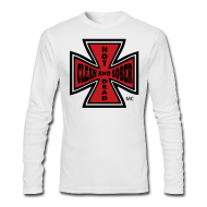 Long Sleeve Shirts ~ Men's Long Sleeve T-Shirt by Next Level ~ Clean And Sober Not Dead™ Maltese Cross MC