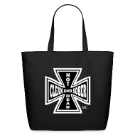 Bags & backpacks ~ Eco-Friendly Cotton Tote ~ Clean And Sober Not Dead™ Maltese Cross MC