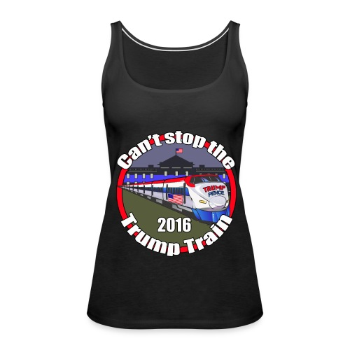 Trump Pence blue line - Women's Premium Tank Top