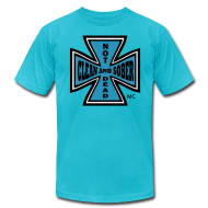 T-Shirts ~ Men's T-Shirt by American Apparel ~ Clean And Sober Not Dead™ Maltese Cross MC