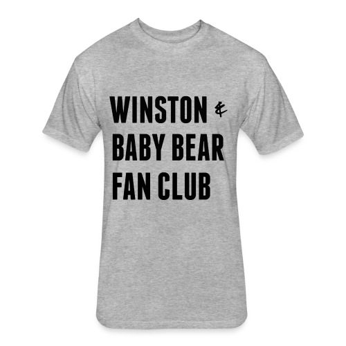 for Kati- Winston & Baby Bear Fan Club - Fitted Cotton/Poly T-Shirt by Next Level
